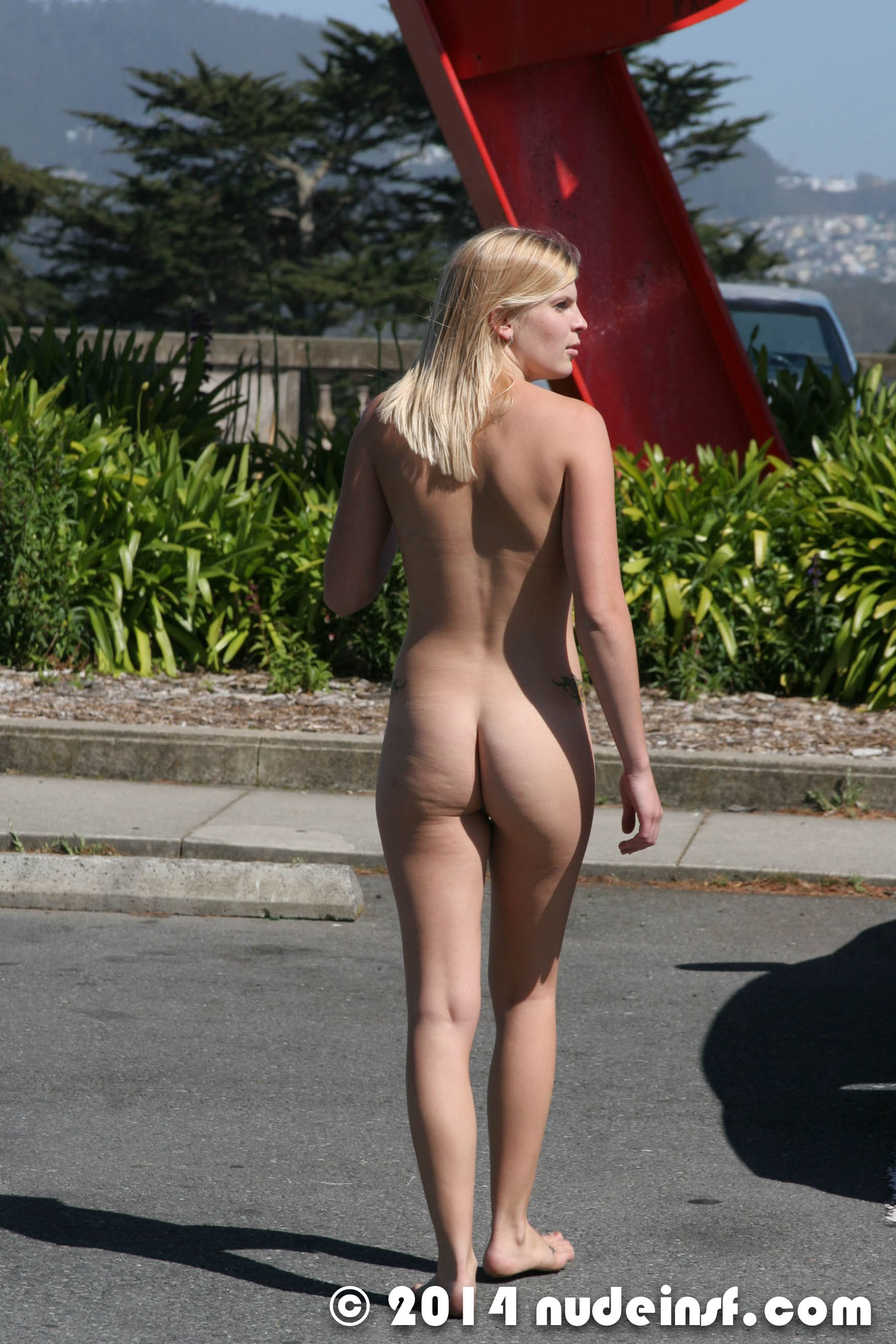 Beautiful women nude in public